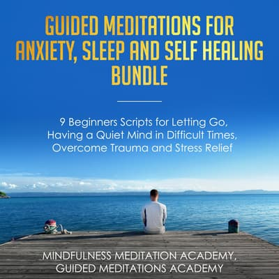 Guided Meditations for Anxiety, Sleep and Self Healing Bundle by Mindfulness Meditation Academy audiobook