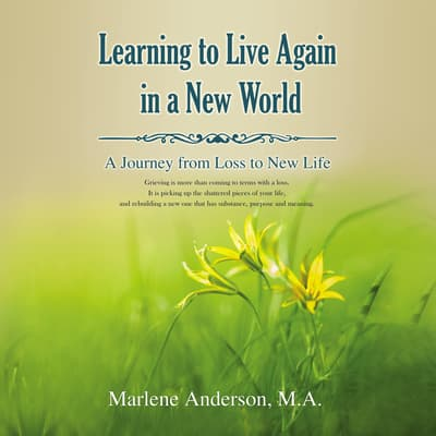 Learning to Live Again in a New World by Marlene Anderson audiobook