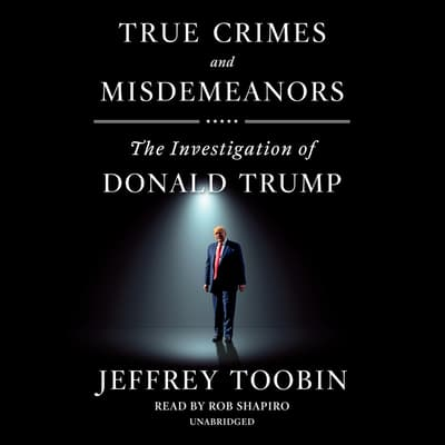True Crimes and Misdemeanors by Jeffrey Toobin audiobook