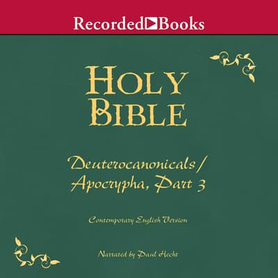 Part 3, Holy Bible Deuterocanonicals/Apocrypha-Volume 20 by Various  audiobook