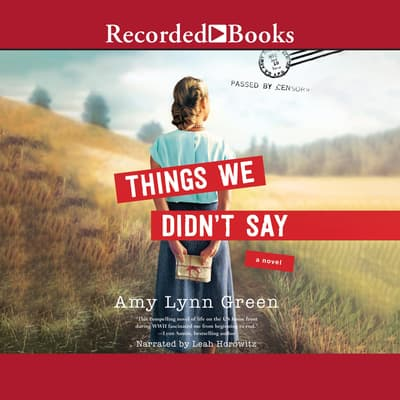 Things We Didn't Say by Amy Lynn Green audiobook