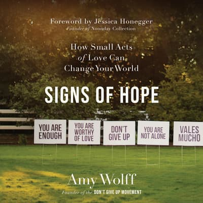 Signs of Hope by Amy Wolff audiobook